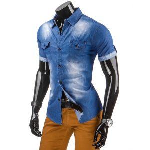 Jeans srajca s kratkimi rokavi