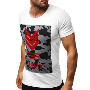 Majica s kratkimi rokavi Army White